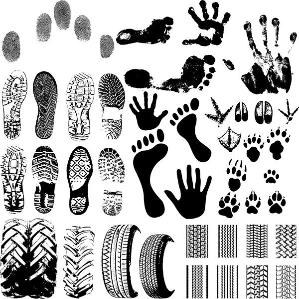 手掌印等,适合设计师用,ai格式的矢量图,要专用的班服设计软件才能