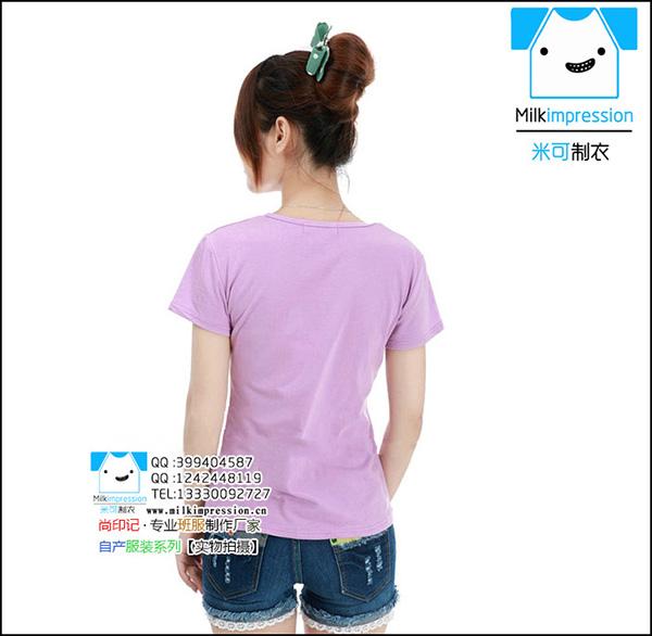 浅紫色女款毕业衫定做-班服设计图案